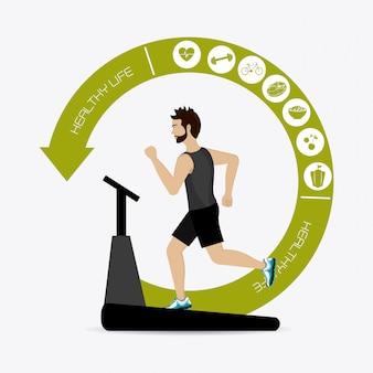Fitness lifestyle design.