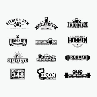 Fitness logo badges 1