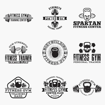 Fitness logo badges
