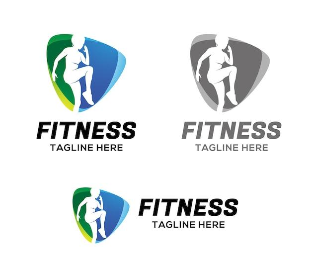 Fitness logo template design