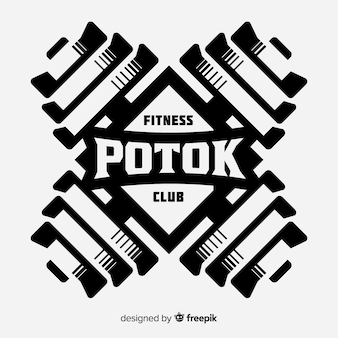 Fitness logo template flat style