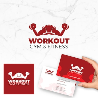 Fitness Logo Vector and Business Card
