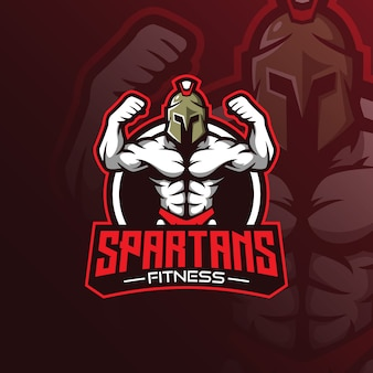 Fitness mascot logo vector with modern illustration concept style for badge, emblem and tshirt printing.