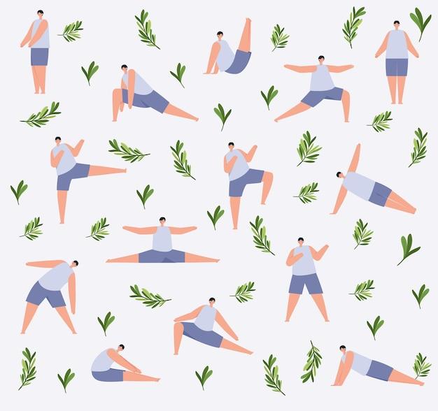 Образец фитнеса мужчин