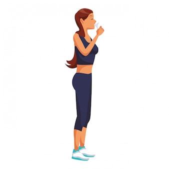 Fitness people cartoon