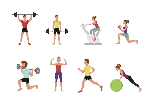 Fitness people  illustration.