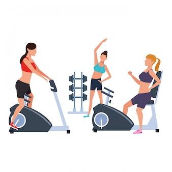 Fitness people training