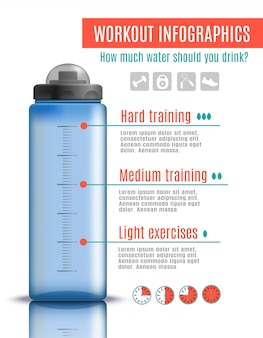 Fitness plastic bottle infographics