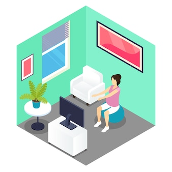 Fitness and pregnancy isometric design