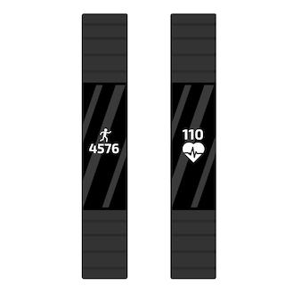 Fitness run tracker band. sport bracelet or  wristband.