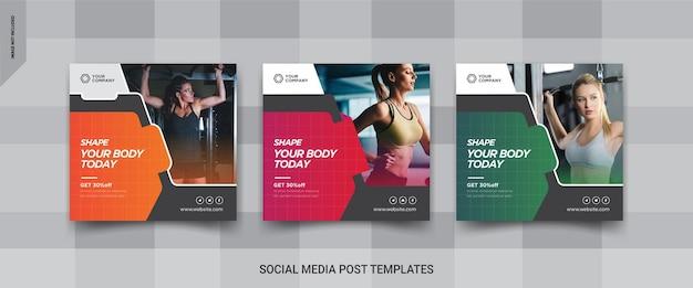 Fitness social media post banner design