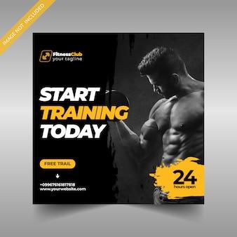 Fitness social media post template
