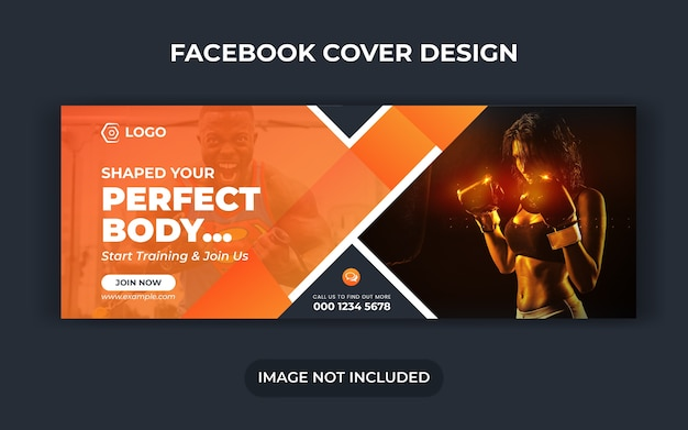 Fitness social media post or work out banner or gym social media template or sport banner template or fitness and gym social media banner template or facebook cover design