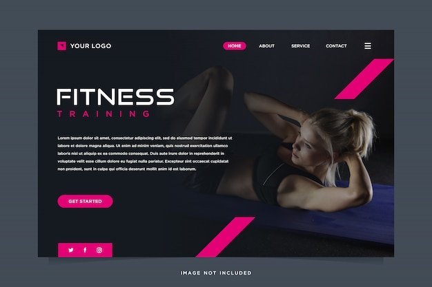 Fitness solution landing page template