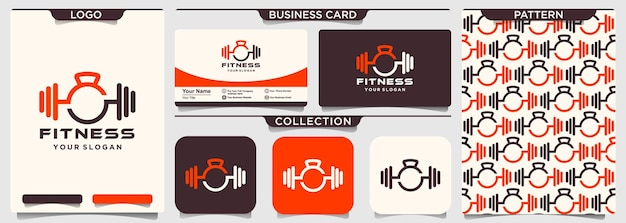Fitness sport body building logo icon   template