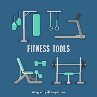 Fitness tools in flat design