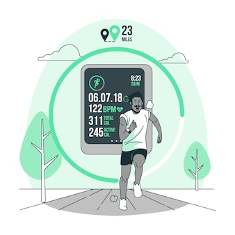 Fitness tracker concept illustration