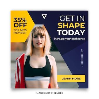 Fitness training banner