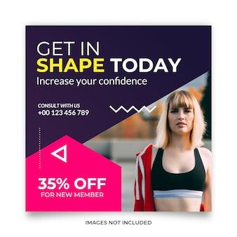 Fitness training social media post