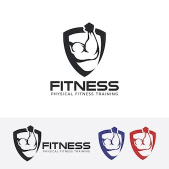 Fitness vector logo template