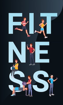 Fitness vertical poster