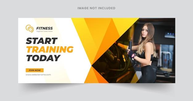 Дизайн шаблона веб-баннера фитнеса