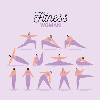 Карта женщины фитнеса