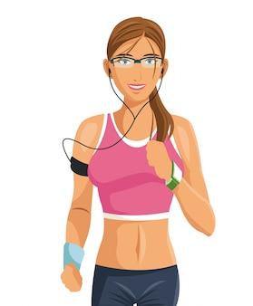 Fitness woman wearable technology digital