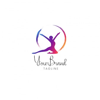 Fitness women logo design