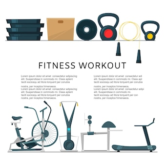 Fitness workout in club center