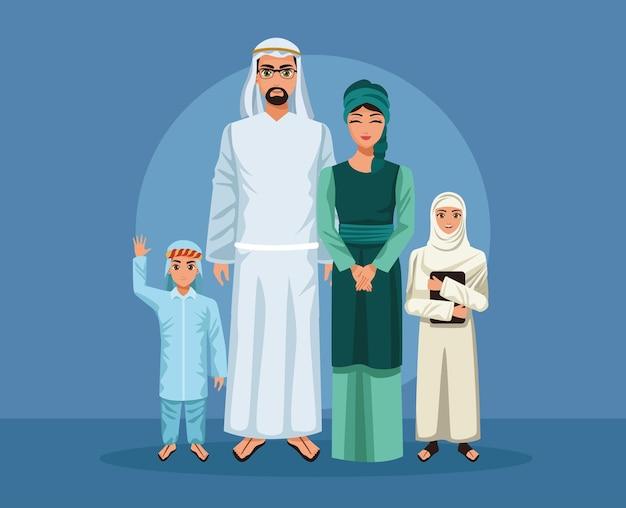Пять членов арабской семьи