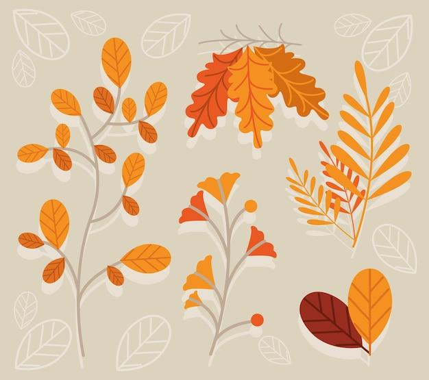 다섯 가을 잎