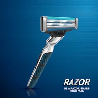 Five blades razor illustration