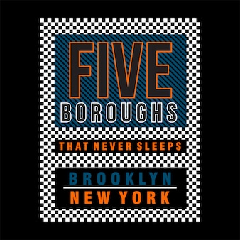 Five boroughs in new york city