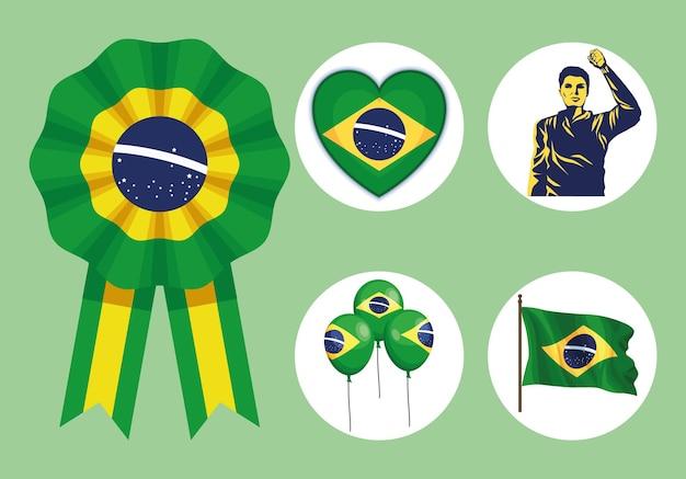 Пять значков независимости бразилии