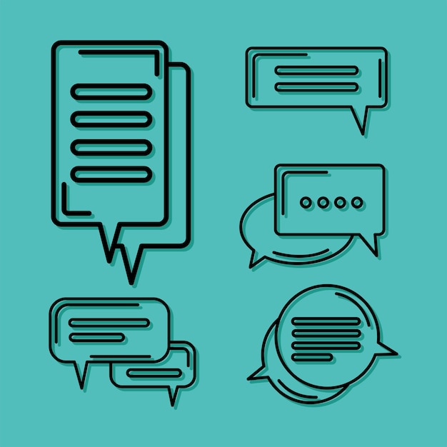 Five chat icons