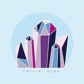 Five crystal gems luxury icons