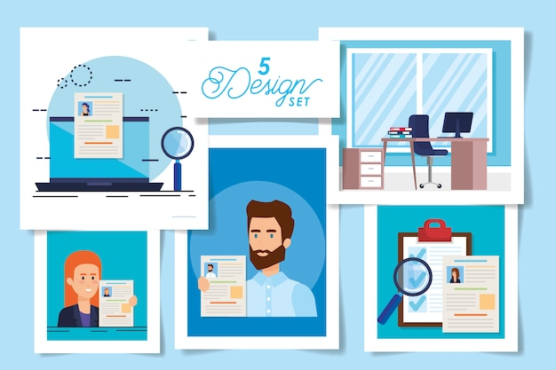 Five designs of hiring with people