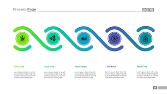 Five elements process chart template. Business data.