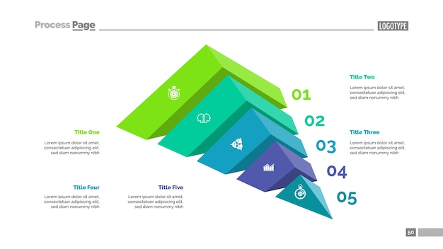 Five elements strategy slide template