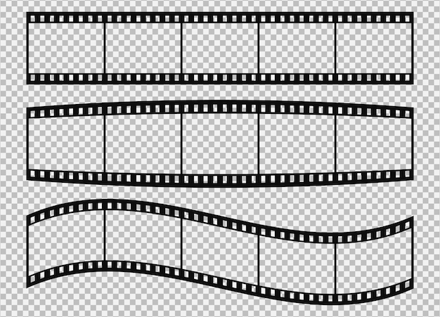 Five frames of classical 35 mm film strip.