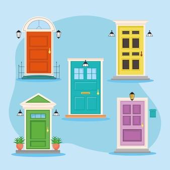5つの正面玄関