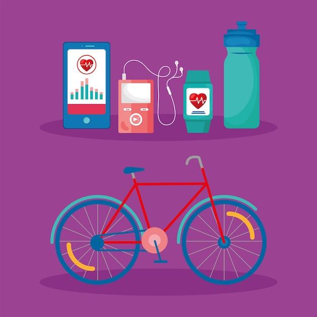 Пять значков приложений для здоровья
