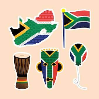 Five heritage day set icons