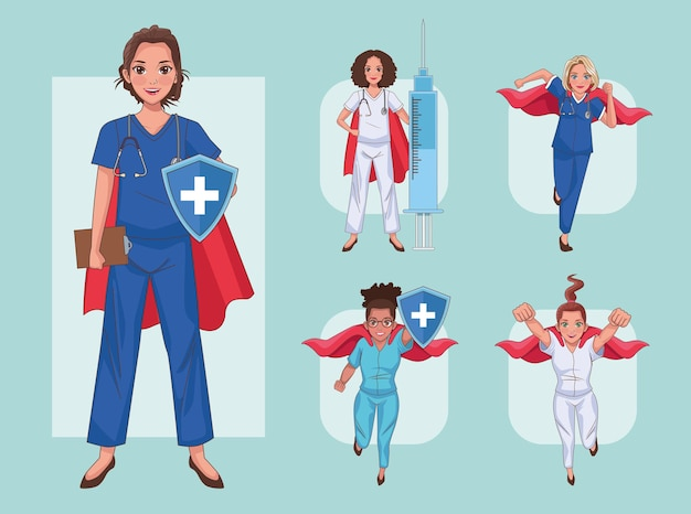Five heros doctors