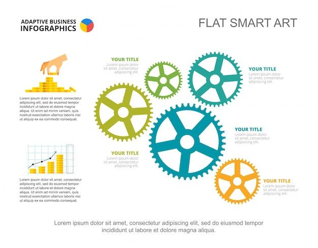 5つのアイデア財務コンセプトスライドテンプレート