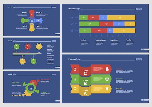 Пять шаблонов рекламных слайдов