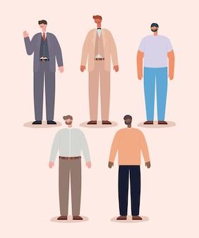 다섯 남자 아이콘