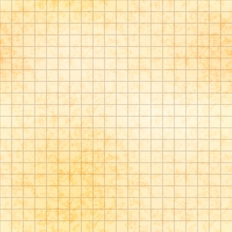 Five millimeter grid on old paper with texture, seamless pattern