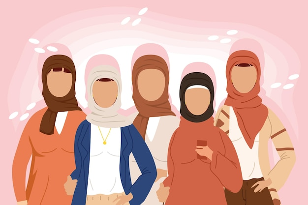 Five muslim community women group